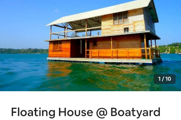 Floating house boatyard, Kilifi, Kenya