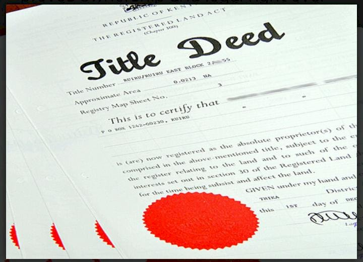 How to Replace a  Lost Land Title Deed in Kenya